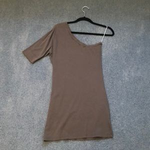 C&C California gray one shoulder dress